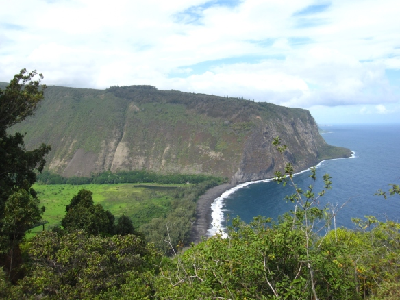 Hidden valley with a black sand beach.  You can't get down there without a special vehicle; the easiest way is actually to hike.