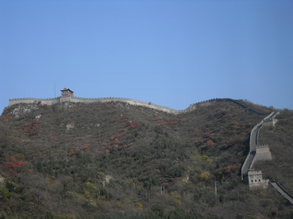View of the great wall from the bus