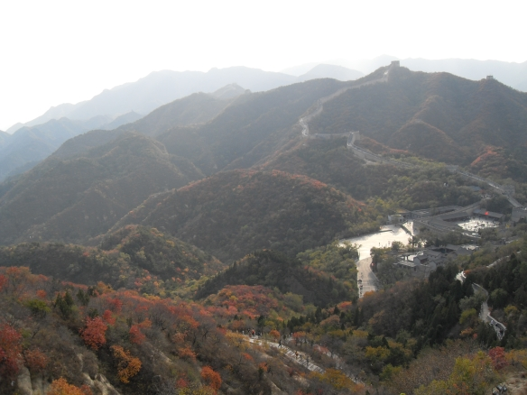 View of the great wall and valley from the top