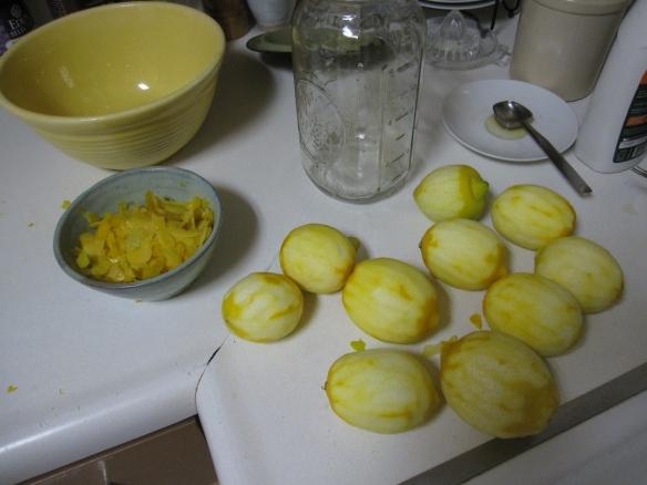 Peeling the lemons
