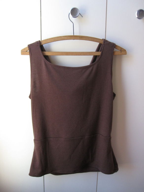 Back of the cowl neck tank top