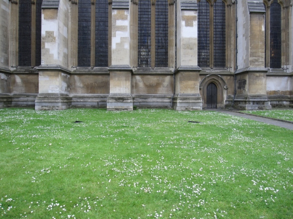 Lawn next to Westminster Abbey