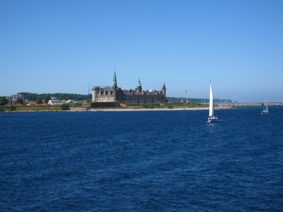 Hamlet's castle with sailboats